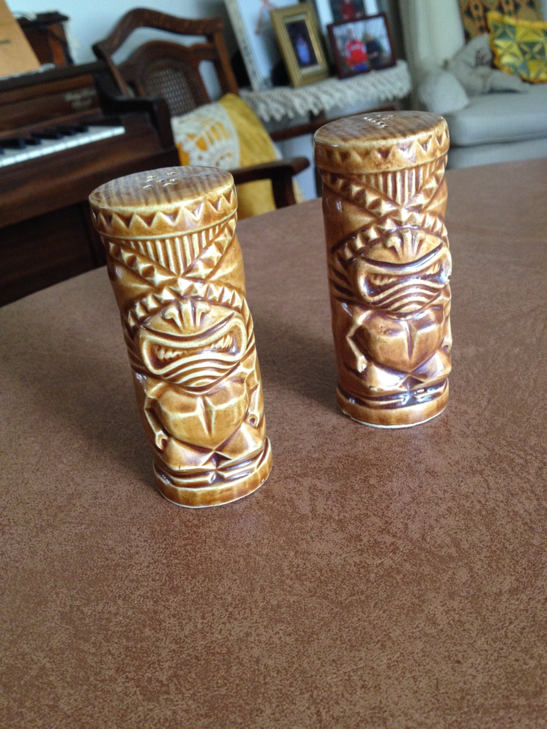 Tiki Awesome Mint Tiki Salt And Pepper Shakers By