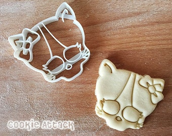Custom Monster High Cookie Cutter use Biodegradable Material twin werecat sisters Purrsephone MH17