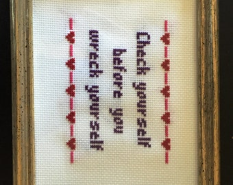 Ice Cube wants you to have this cross stitch!