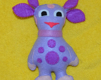 Soft toy out of felt - Luntik