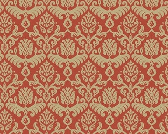 Traditions  Red/Tan  hemp fabric