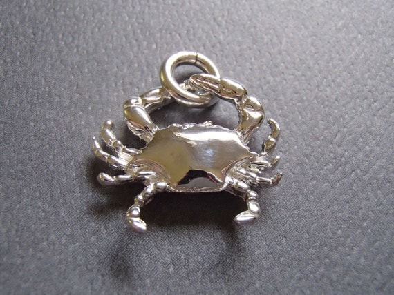 sterling silver maryland blue crab pendant solid 925 silver