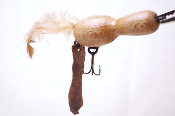 Items similar to handmade wood fishing lure wood lure for Handmade fishing lures