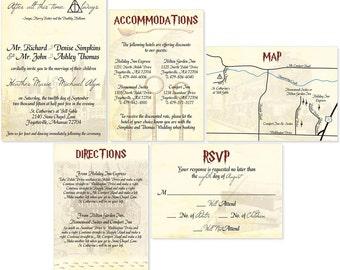 Beautiful Harry Potter Wedding Invitation