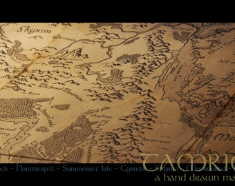 Tamriel - A handdrawn world map