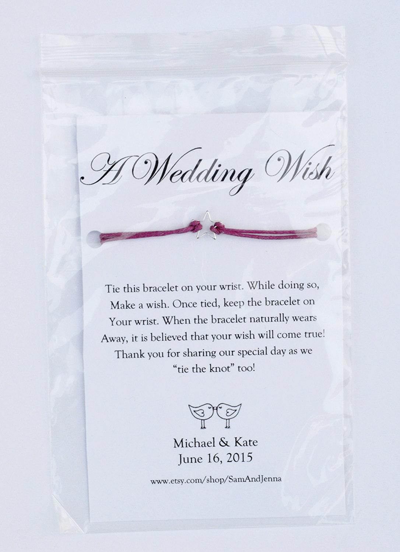 A Wedding Wish Wish Bracelets Custom Wedding Table Favors
