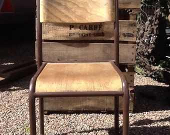 REDUCED Vintage French Child's School chair / French Chair / School Chair / Childs Chair