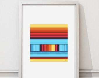 Escape 78 - Art print limited edition - 28 cm x 28 cm - frame - photographic Composition - Interior Decoration
