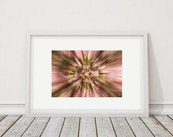Colors Horiz 5 - art print limited edition - 24 cm x 36 cm - frame - photographic Composition - Interior Decoration