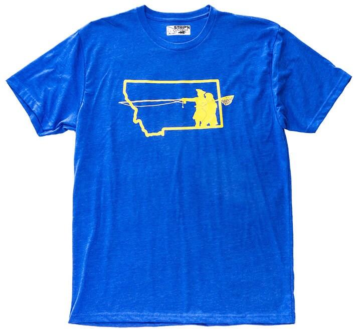 Go west montana fly fishing t shirt for Fly fishing shirt