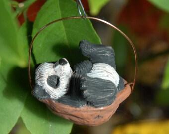 Sleeping Panda ornament