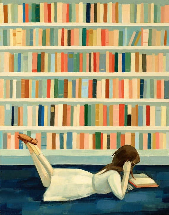 I Saw Her in the Library Print 8x10 by Emily Winfield Martin