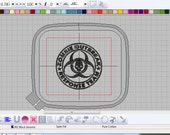 Zombie Outbreak Response Team Machine Embroidery Pattern - all formats