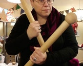 BA Knitting needles - giant needles, size 100, 24 inches long. Knit everything. [1.5inch dia]