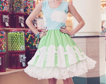 HUGE Anniversary SALE New York Couture *Limited Edition* In A Cloud PICKET Fence Dress