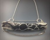Sterling silver and felted wool pendant necklace one of a kind
