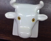 Vintage ceramic cow/bull head