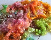 Curly Mohair Locks - Hand Dyed - Beautiful Texture - Bohemian - 4 ounces