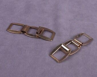 Gold/Brass Chain Links - 1 Pair (MC10GO3-2)