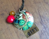 Hand stamped gift necklace