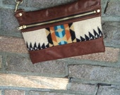 Pendleton and Leather Purse