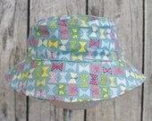 Kids Child Children Reversible Fabric Bucket Hat  Butterfly Bows