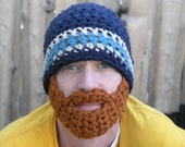 Instant Download- Pattern for Crochet Bearded Beanie Adult Size