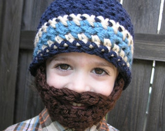 Instant Download- Pattern for Crochet Bearded Beanie 6-12mo