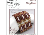 Peyote Pattern - Zoe's Playtime Peyote Cuff / Bracelet  - A Sand Fibers For Personal/Commercial Use PDF Pattern