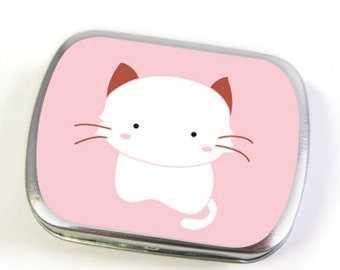 Cat Tin Box in Pink (small or large)