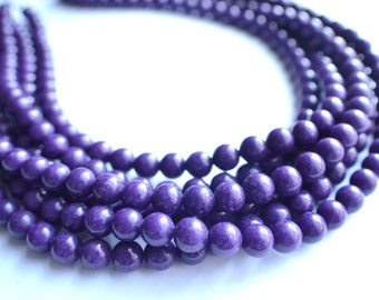 The Michelle- Purple Jade Chunky Necklace