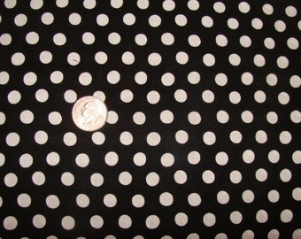 Spot in Midnight, Polka Dot in BLACK WHITE, 1/2 yard GP070 Kaffe Fassett Fabric for Westminster Fiber, Cotton Quilt Fabric