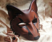 FOX mask, leather mask by faerywhere