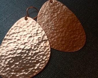 Hammered Copper Earrings (Medium)