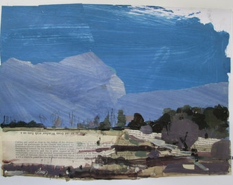 Kestrel Place, May 1, Original Landscape Collage Painting on Paper, Stooshinoff