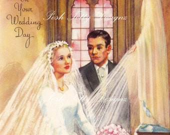 On Your Wedding Day Greetings Card Digital Download Printable Images (466)