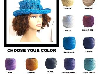 Floppy Hat, Crochet Sun Hat, Floppy Sun Hat, Womens Hat Trendy, Womens Crochet Hat, Hemp Hat, Turquoise Hat, Moncherie Wide Brim Hat