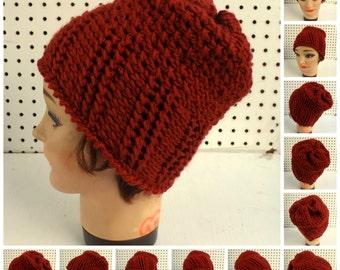 Easy Crochet Pattern Hat for Women, Womens Crochet Hat Pattern, Womens Hat, Ribbed and Seed Stitch Crochet Beanie Pattern for Beginners