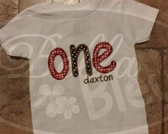 Custom Personalized 1st First One Birthday Shirt Boy Girl