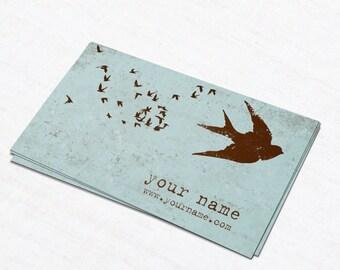 Business Cards  Custom Business Cards  Personalized Business Cards  Business Card Template  Modern Business Cards  Bird Business Card B15