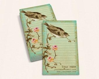 Business Cards  Custom Business Cards  Personalized Business Cards  Business Card Template  Vintage Business Cards  Bird Business Card V19