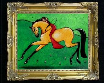 Equestrian Art Print, Horse Lover Gift, Boho Decor, Modern Farmhouse, Farmhouse Decor, Bohemian Wall Art, Horse Wall Hanging, Colorful Shano