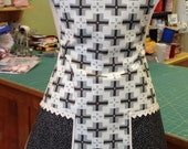 Reserved for Erin - Vintage Everyday Housewife Apron -  34.00 Dollars