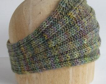 Headband Handknit in Merino Wool Yarn - Soft and Warm