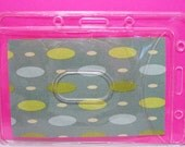 Badge Holder Pouch Clear Vinyl with Clip