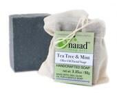 Tea Tree & Mint Olive Oil Facial Soap - Handmade, All Natural Detoxifying Catille Soap - Vegan