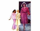1970s Womens Pullover Dress or Top McCalls 5976 Vintage Sewing Pattern Full Figure Size 18 - 20 Bust 40 - 42 UNCUT