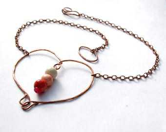 Sweetheart / Copper Heart Necklace - made when ordered