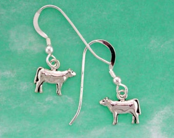 Stock Show Heifer Earrings in Sterling Silver, Great Gift for FFA or 4 H