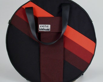 Red Striped Cymbal Bag/Backpack